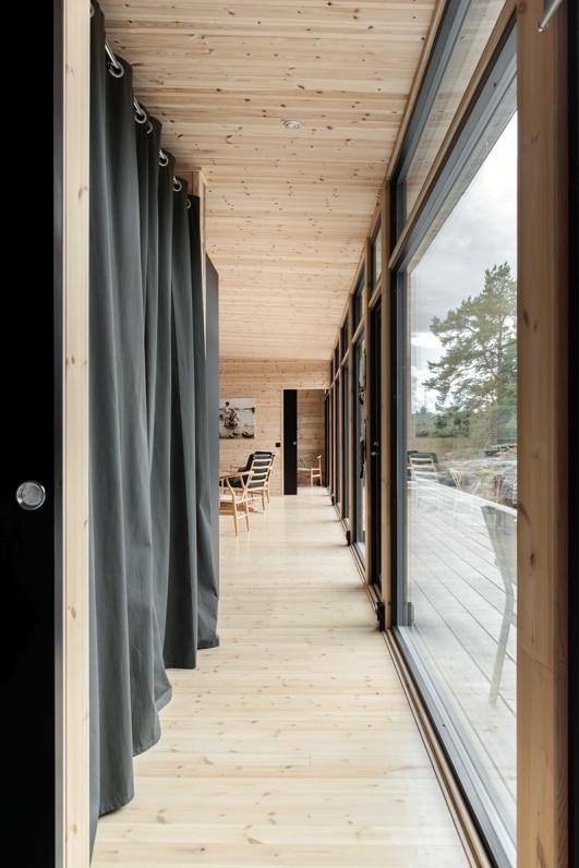 baie vitree maison bois design - Maison Bois'art