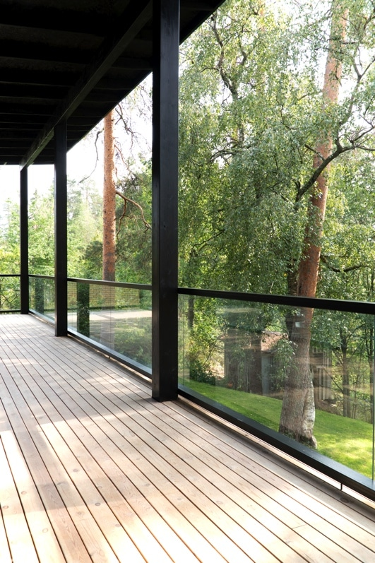 balcon terrasse maison bois design - Maison Bois'art