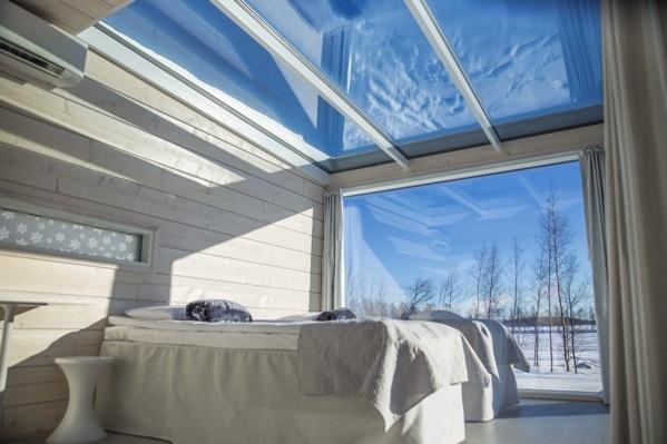 maison bois écologique chambre vitrée - Maison Bois'art