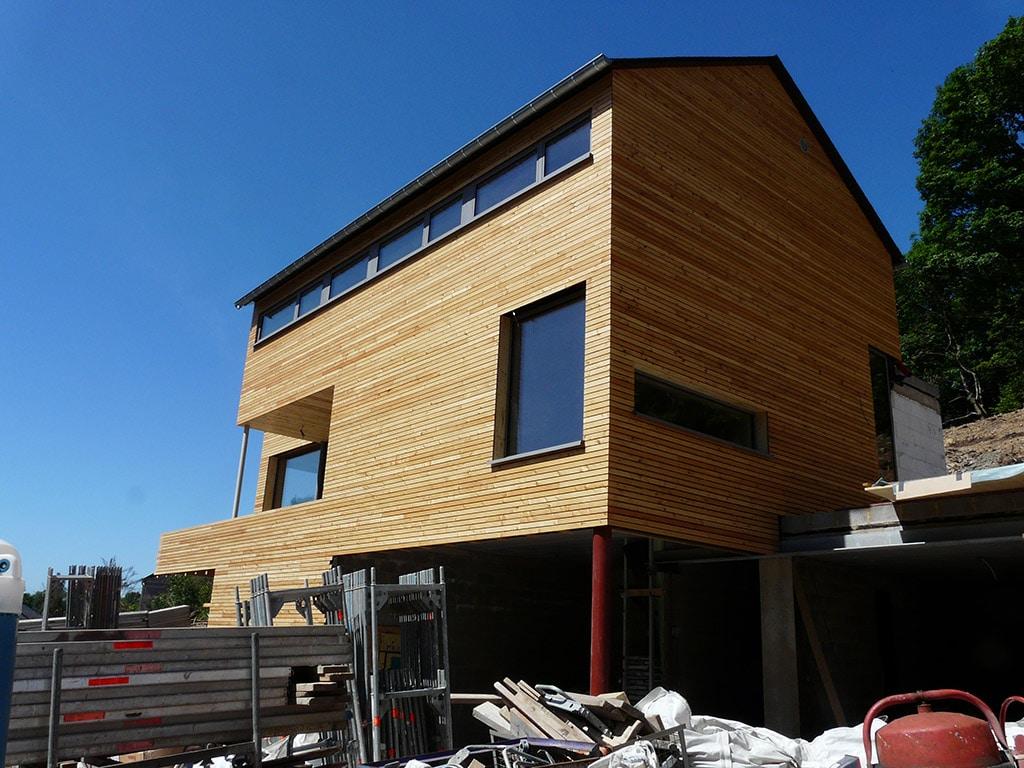 chantier maison bois Morbihan - Maison Bois'art