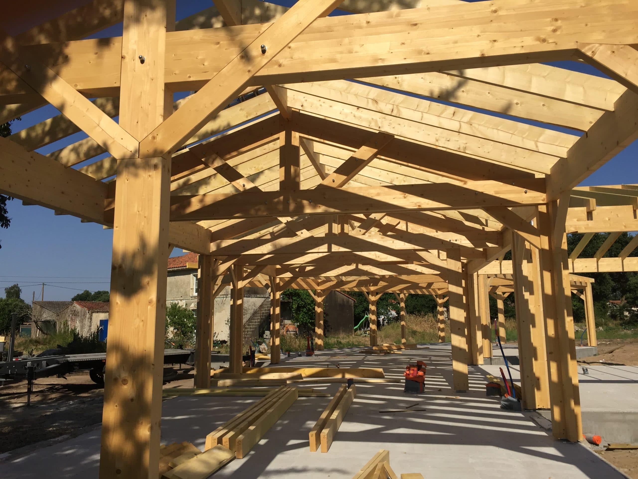 Charpente maison ossature bois 44 - Maison Bois'art