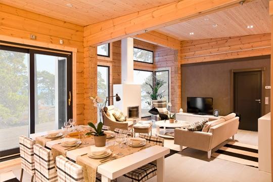 intérieur maison de bois Morbihan - Maison Bois'art