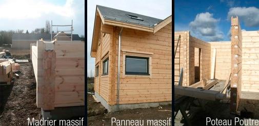 madrier massif - panneau massif - poteau poutre - maison bois - Maison Bois'art