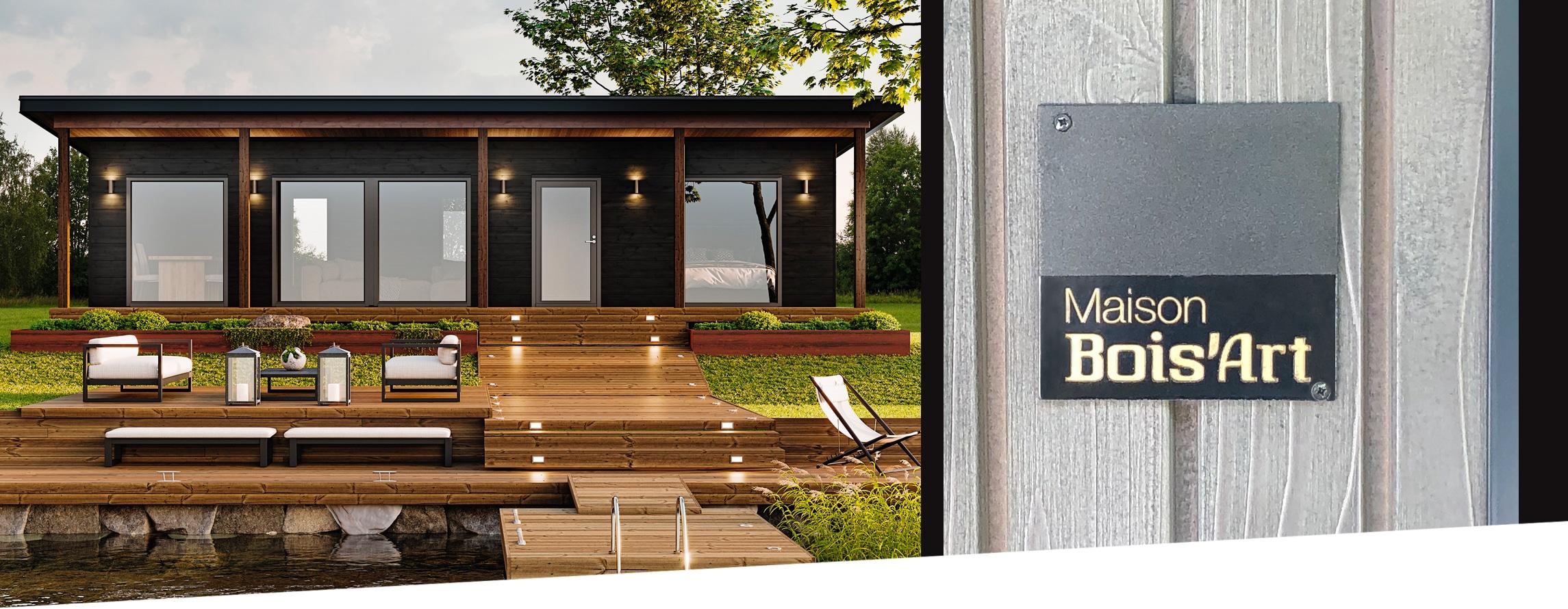 FABRICATION maison en bois sur mesure Maison Bois'art